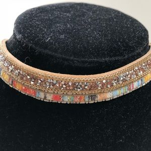 "NEW LUX Multi-Colored Choker Necklace - 16"" /18"""